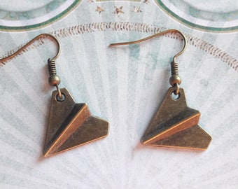 A pretty pair of airplane plane, centerpiece, paper earring