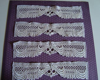 Original Lace band 25 condition 0.58 to lay flat - Ecru