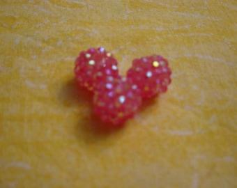 1 bead shambhala pink vivid 14 mm