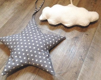 Pair of Star and cloud cushions