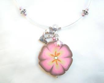 Necklace pendant, romantic 'Flower of dreams'