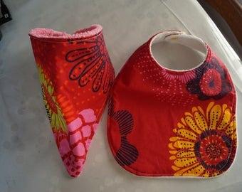 Red bavana and bib set