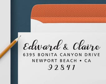 Return Address Stamp 338 - Self Inking Stamp, Custom Address Stamp, Custom Stamp, Personalized Address Stamp, Wedding and Housewarming Gift