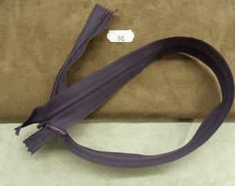 invisible zipper - 50 cm - violet light