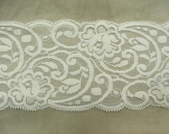 LACE of CALAIS - 10 cm - white