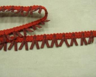 FANCY Ribbon-2, 5 cm - red & Burgundy