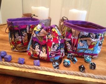 Wonder Woman Dice Bags