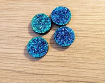 cabochon blue stone 12 mm color effect