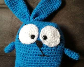 handmade Blue Bunny blanket