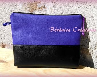 """Clutch purse flat """"pep's color"""" Purple"""