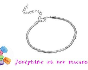 1 bracelet 20 cm snake chain