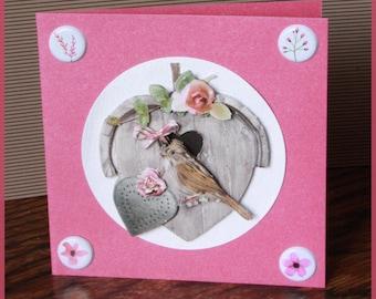 card box with bird