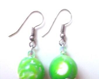 """Spring Green"" earrings"