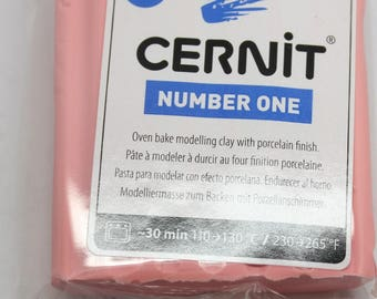 Polymer clay CERNIT Number One color pink English-56 Gr