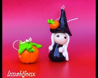 Halloween witch pumpkin halloween jewelry earring