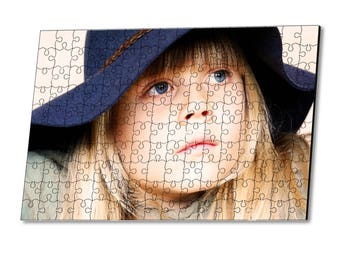 Personalization with photo 150 wooden puzzle pieces
