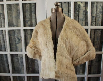 1950's Arctic Fox Stole With Sleeve Cuffs