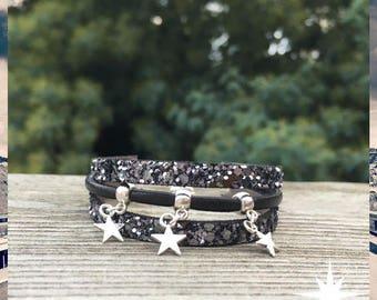 Bracelet sparkling charcoal