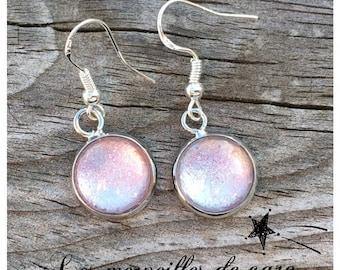 Earrings Mini sparkle pink discretion