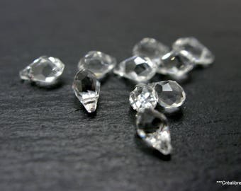 Set of 10 swarovski Briolette Drop