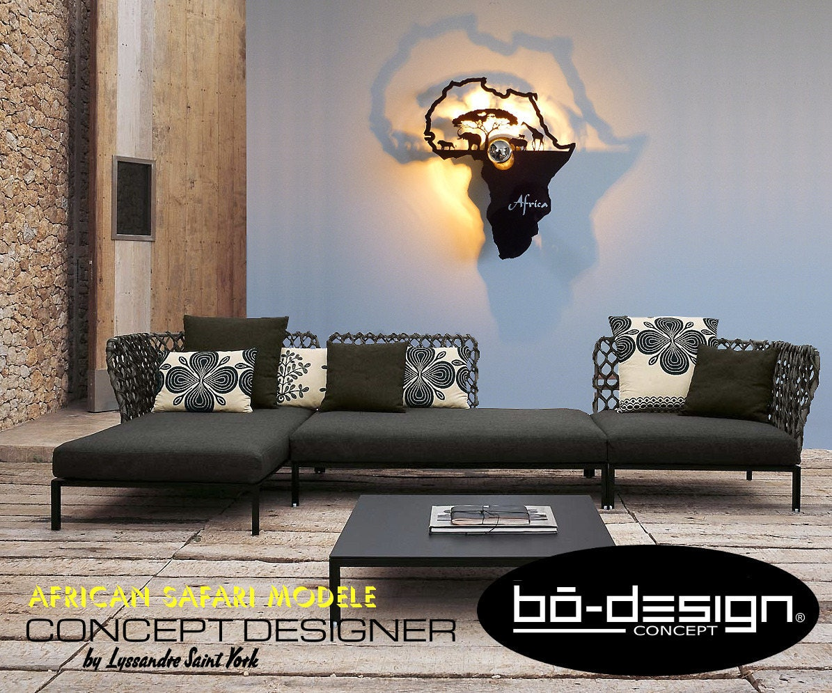luminaire design applique murale africa noir. Black Bedroom Furniture Sets. Home Design Ideas