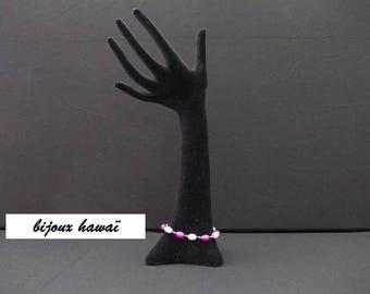 Bracelet beads pink & fuchsia 20 centimeters