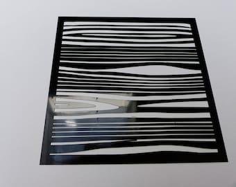 stencil flexible wood 15 cm square
