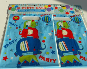10 bags for party bags for candy bags candy gifts for guests Christmas pouches birthday elephant