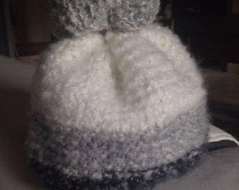 Entirely hand knitted Bobble hat.