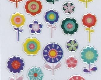 3d embossed pop flowers laptop stickers with Santa Claus: 12.5 cm x 7.5 cm