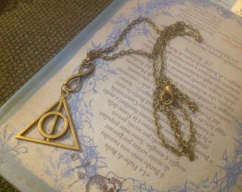Metal necklace bronze inspired by Harry Potter
