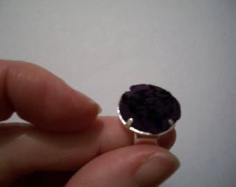 Purple and black ring OOAK