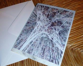 """Card double """"canvas art"""" 10 5x15cm"""
