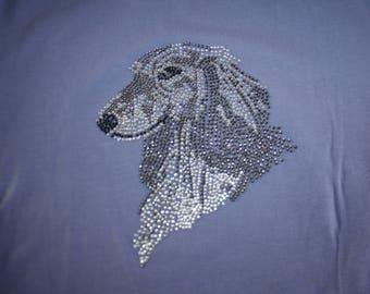 t-shirt sleeve short rhinestone Greyhound sock stocking