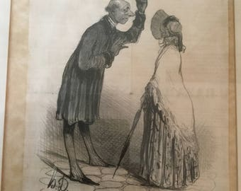 Honore Daumier lithograph