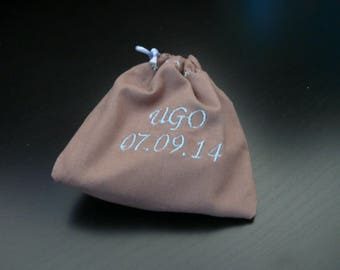 Contact ME with personalized favors, small pouch