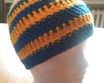 Blue yellow stripes Beanie / Hat
