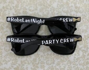 Personalized Sunglasses, Custom Sunglasses, Bachelor Sunglasses, Bridal Party Sunglasses, Bachelorette Sunglasses, Party Crew Sunglasses