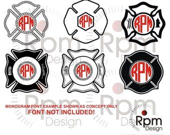 Maltese Cross SVG File, Fire Fighter svg, Maltese Cross, Maltese, Firefighter, Monogram, dxf, Laser, Cricut, Silhouette, Cuttable, Download