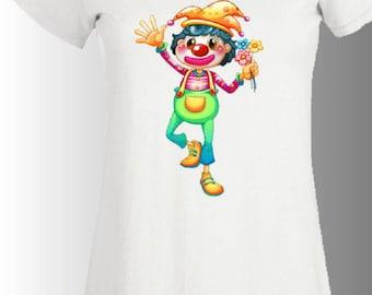 t-shirt women short sleeve printed CLOWN