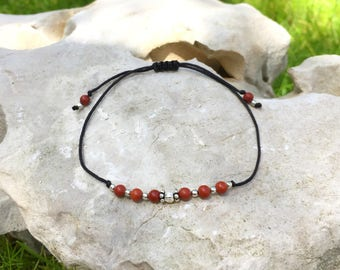 "Bracelet ""lucky"" red Jasper and Silver 925"