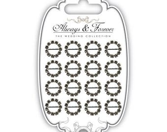 9 loops for round tape (15 mm) with Rhinestones-AFCHRM015