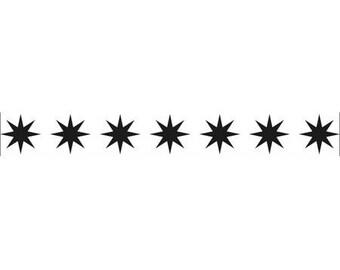 Embossing border workbook star 15 x 2 cm_BOF001