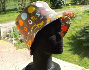 Summer Hat cotton fabric printed writing
