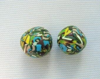 Set no. 34 lot 2 bead paste Fimo 15 and 17mm diam.
