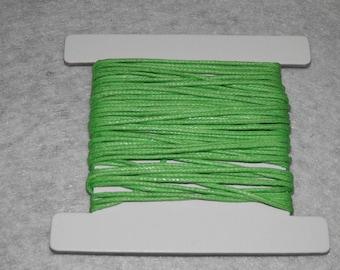 Thread cotton, 5 m x 1 mm Green