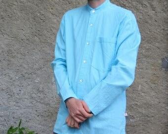 shirt sleeve Mandarin collar long