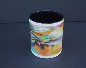 Mug Flamboyance - ceramic from my watercolor