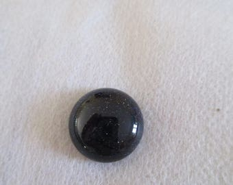 round and flat cabochon blue Goldstone with some glitter