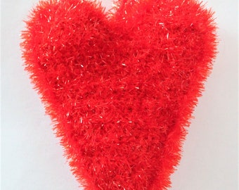 Heart - sponge ware crocheted Tawashi zero waste